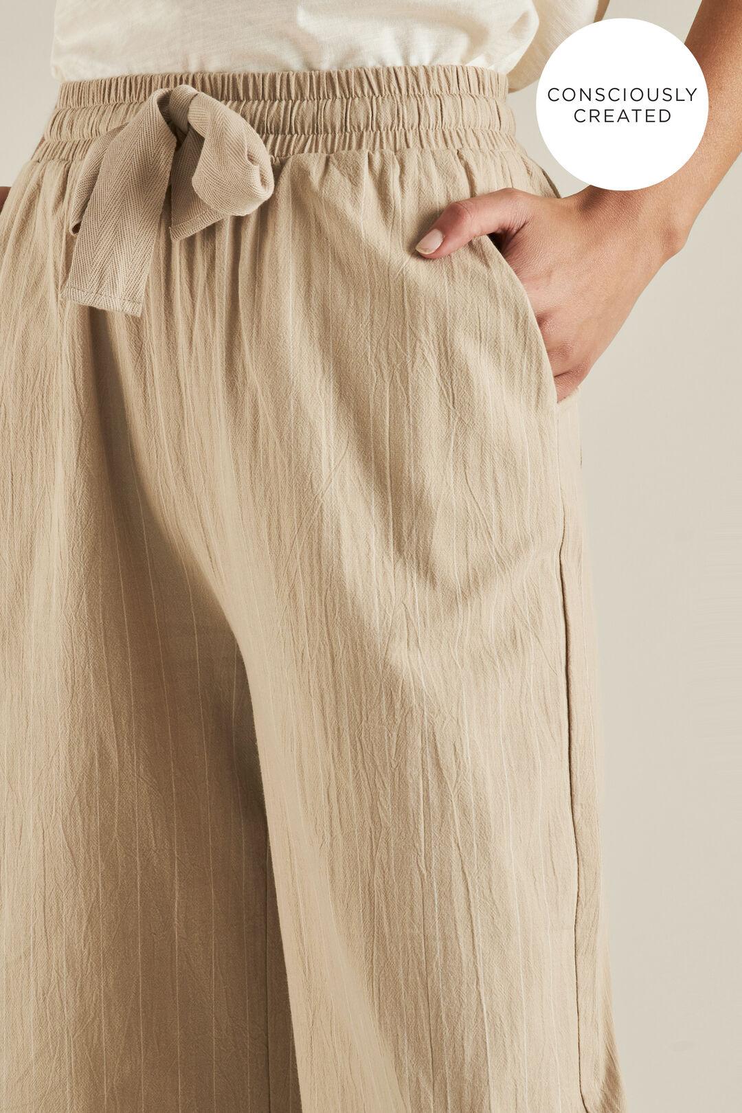 Sustainable Stripe Pant  TEAK STRIPE  hi-res