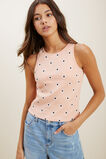 Embroidered Tank  PASTEL PEACH  hi-res