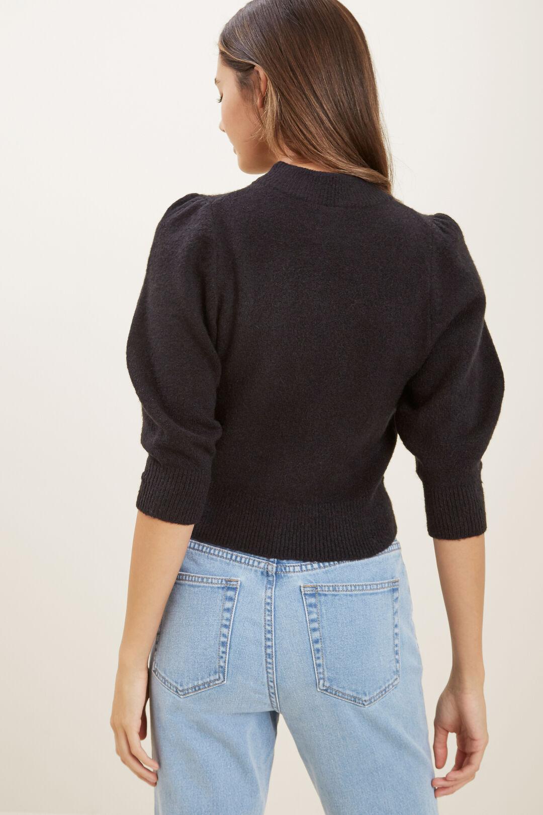 Puff Sleeve Knit  BLACK  hi-res
