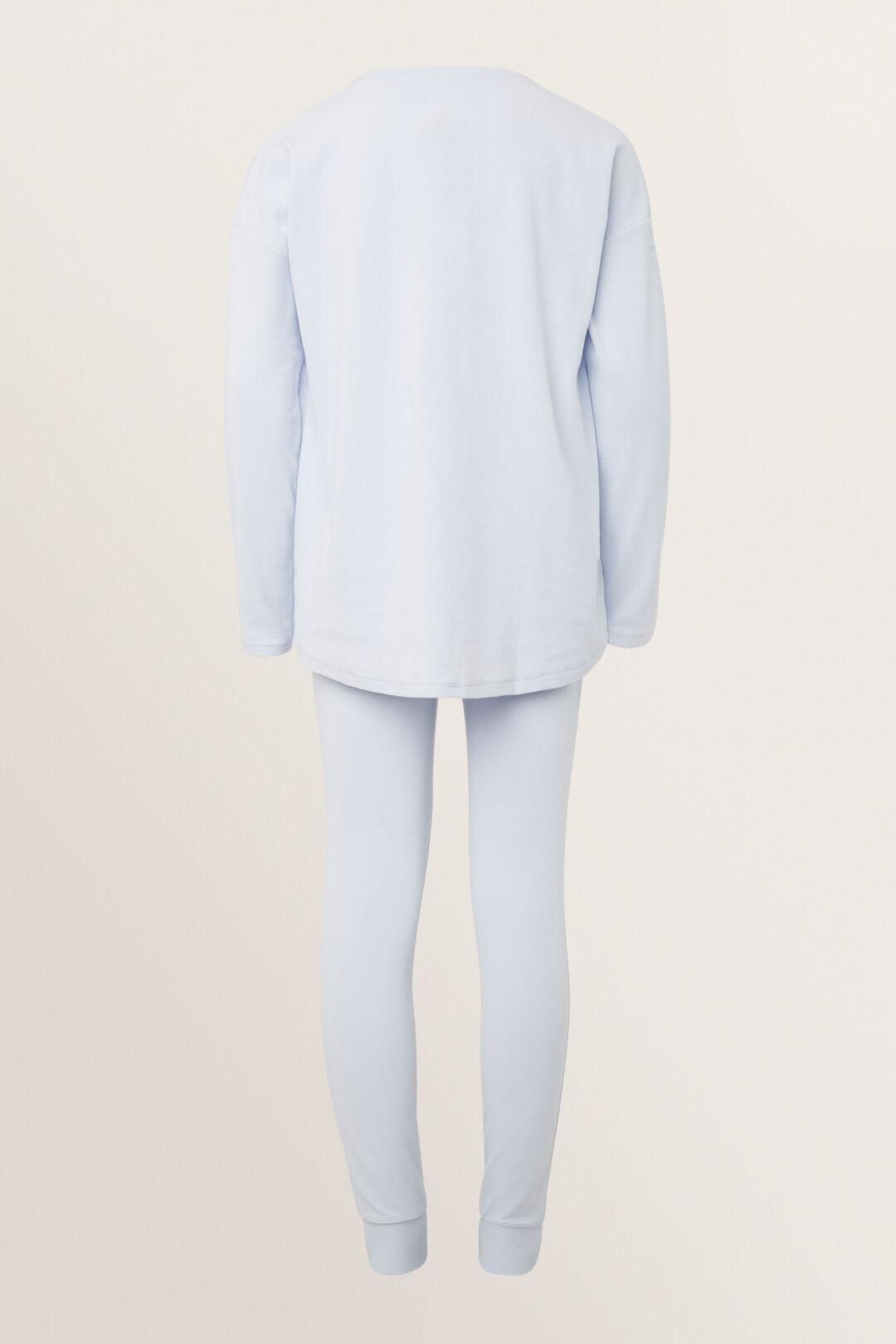 Rib Henley  Pyjamas  BABY BLUE  hi-res