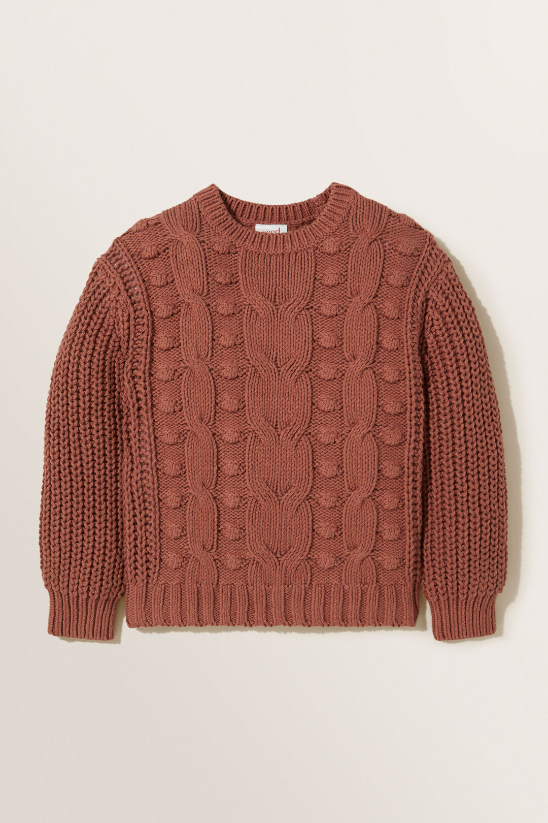 Chunky Cable Knit  COCOA  hi-res
