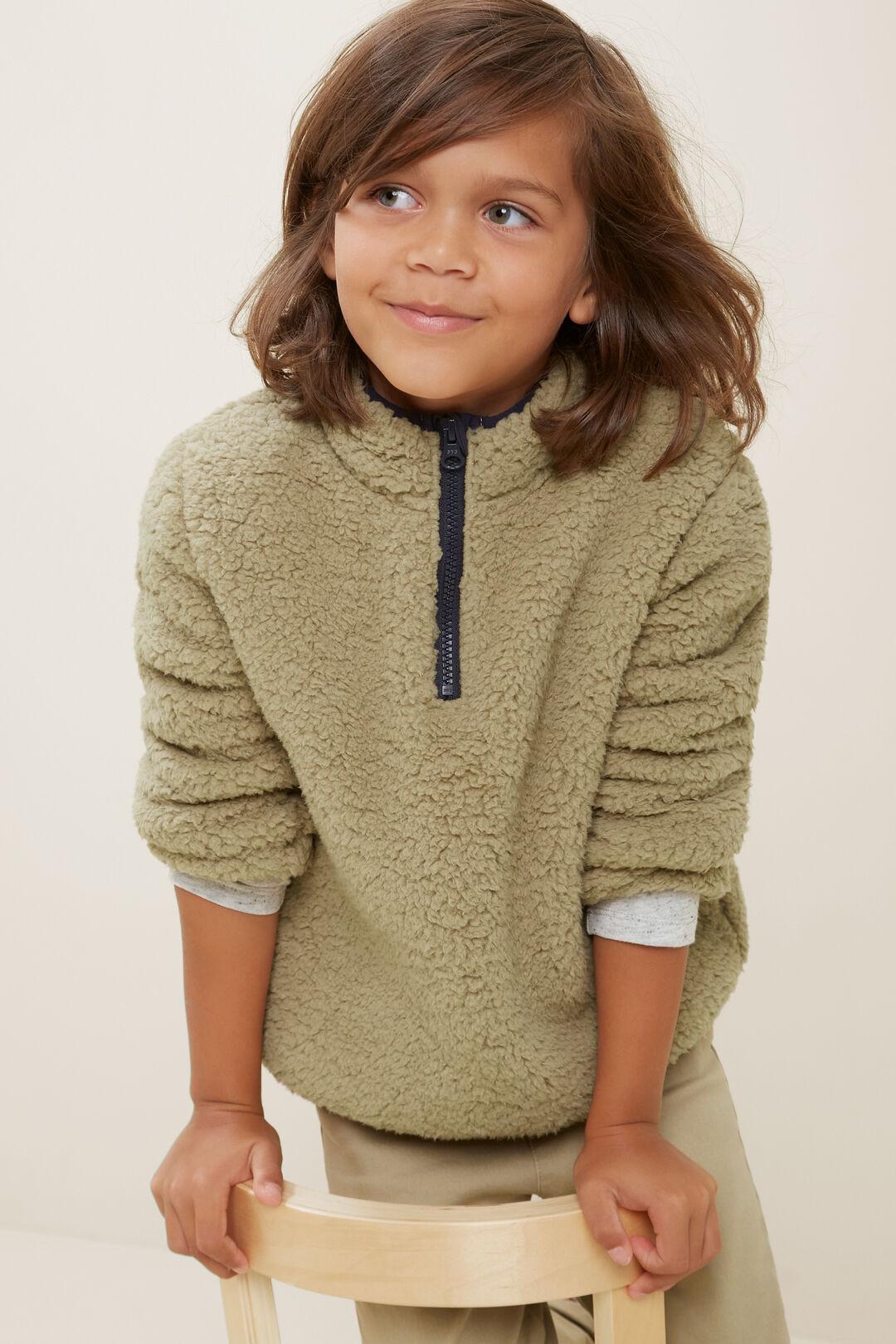 Teddy Zip Sweater  LIGHT OAK  hi-res