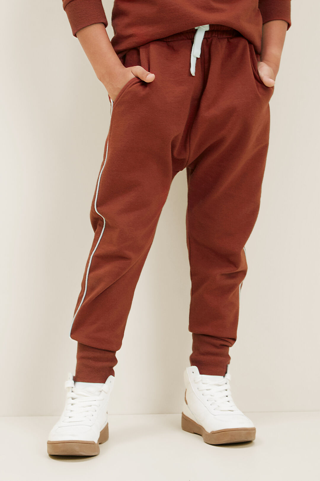 Piping Detail Trackpant  RUST RED  hi-res