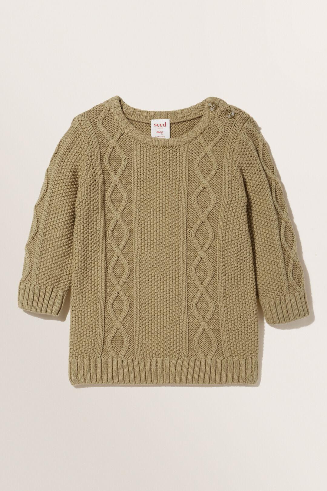 Cable Knit Sweater  LIGHT OAK  hi-res