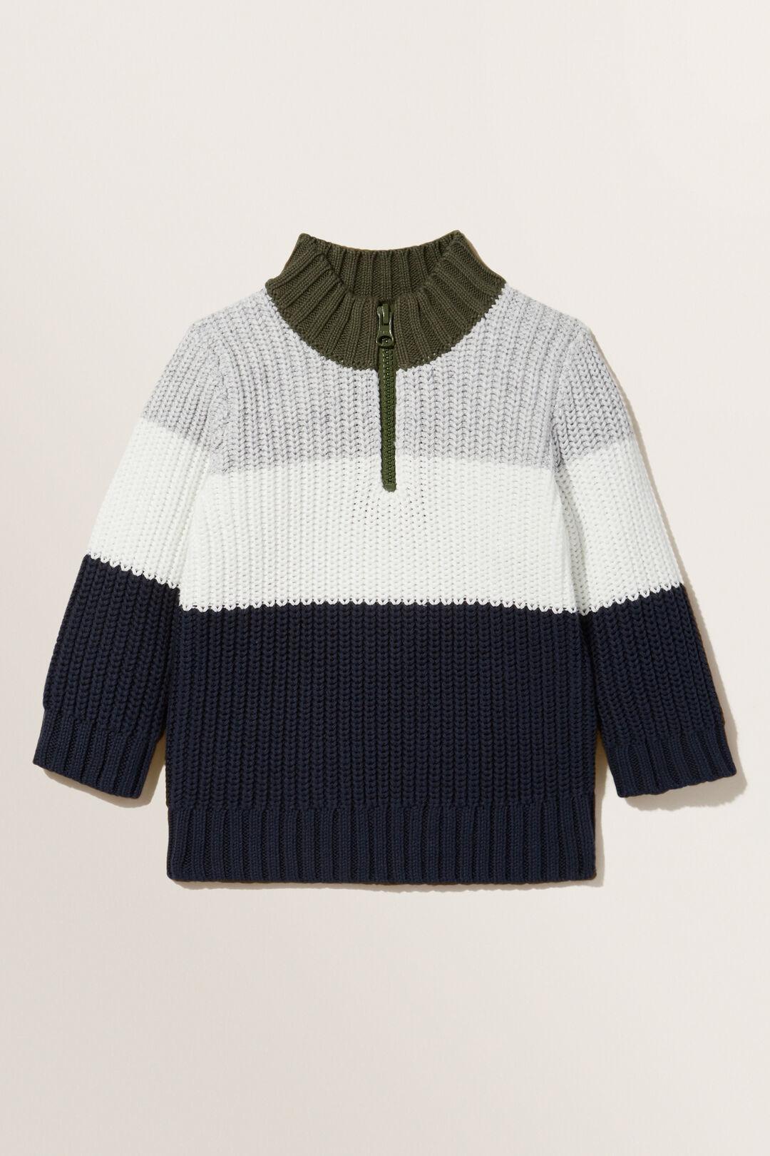 Half Zip Knit Sweater  MULTI  hi-res
