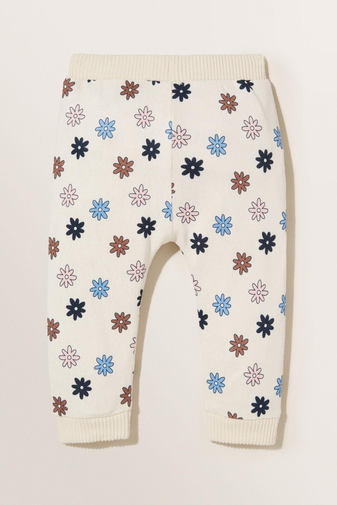 Flower Trackpant  CREME  hi-res