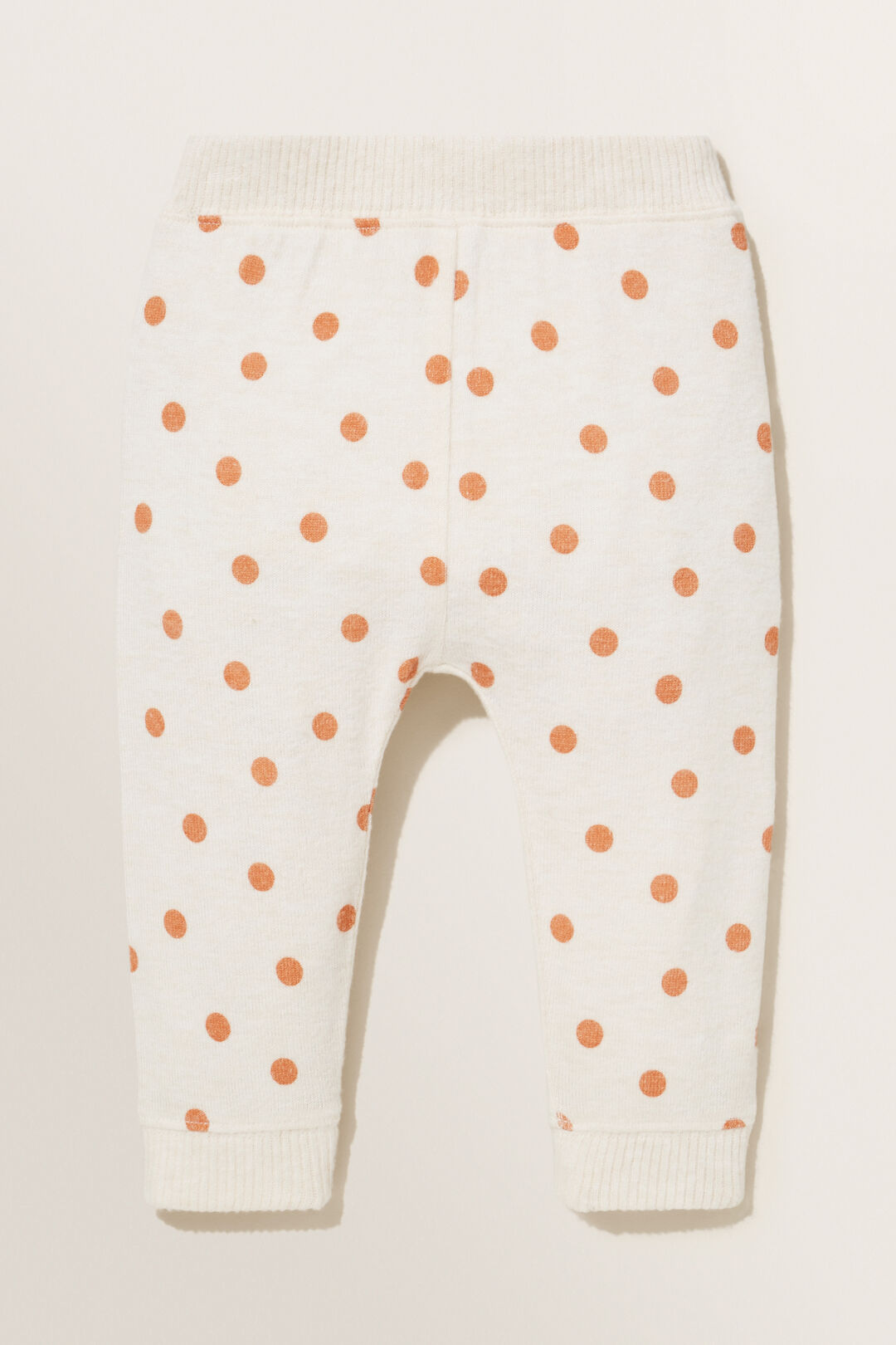 Spotty Brushed Terry  Trackpant  OAT MARLE  hi-res