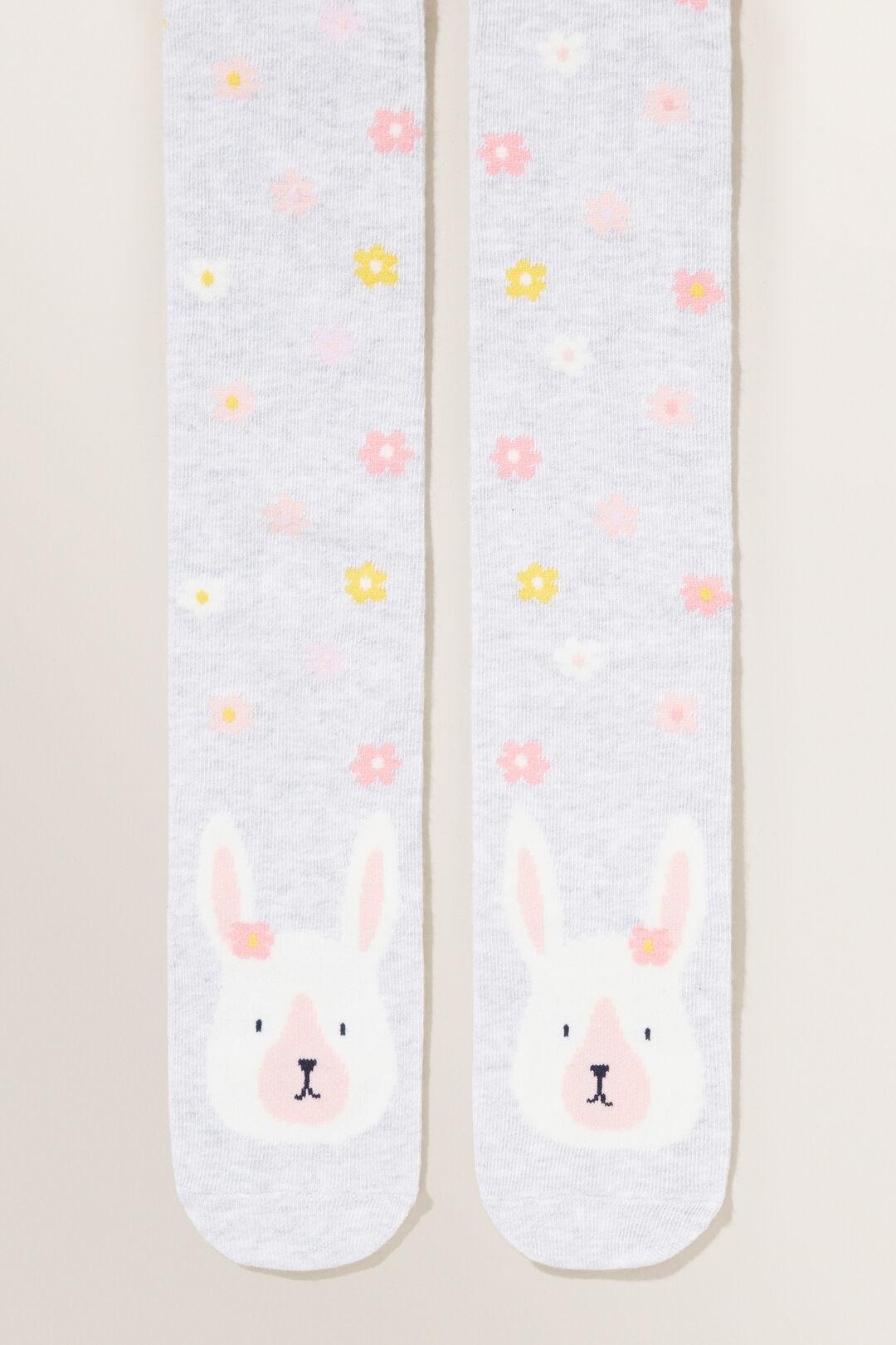 Bunny Flower Tights  MID GREY MARLE  hi-res