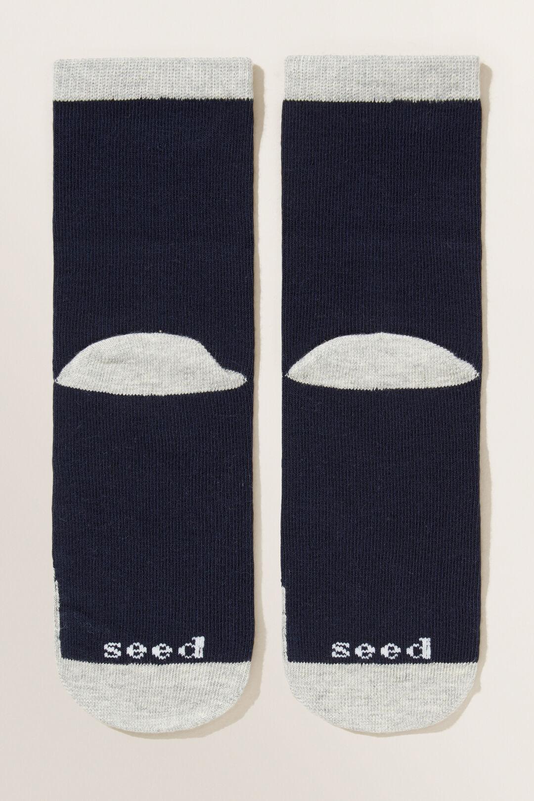 Bunny Socks  NAVY  hi-res