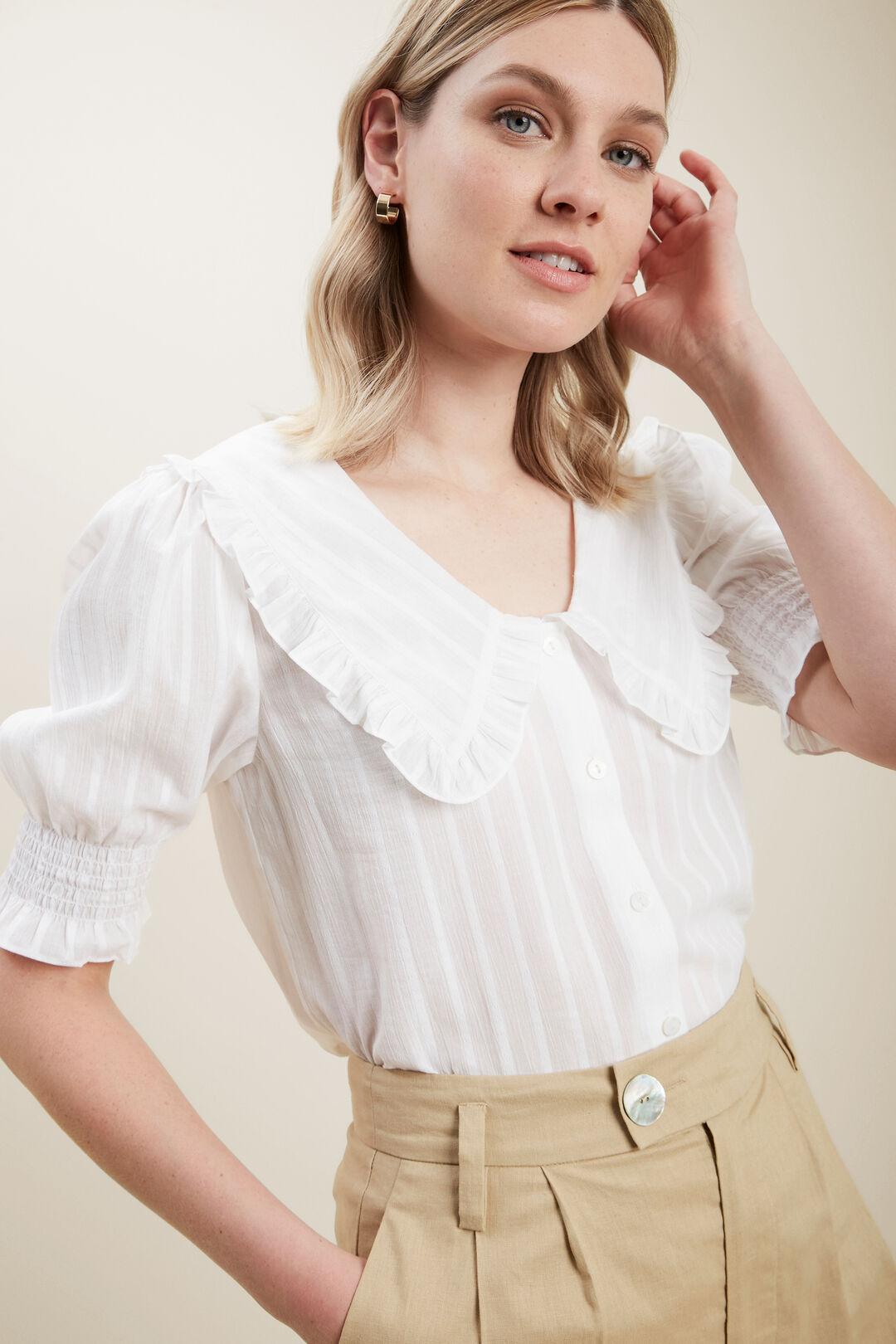 Vintage Collar Blouse  WHISPER WHITE  hi-res