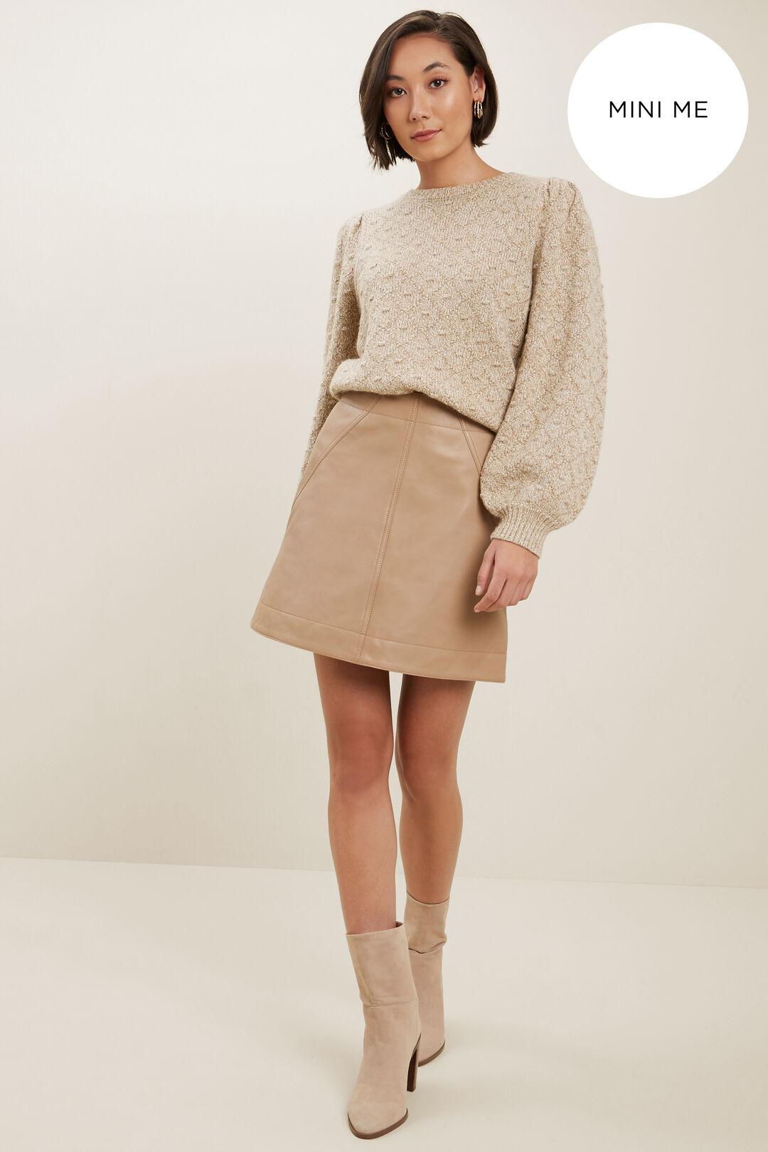 Pom Pom Twist Sweater  HONEY VANILLA TWIST  hi-res