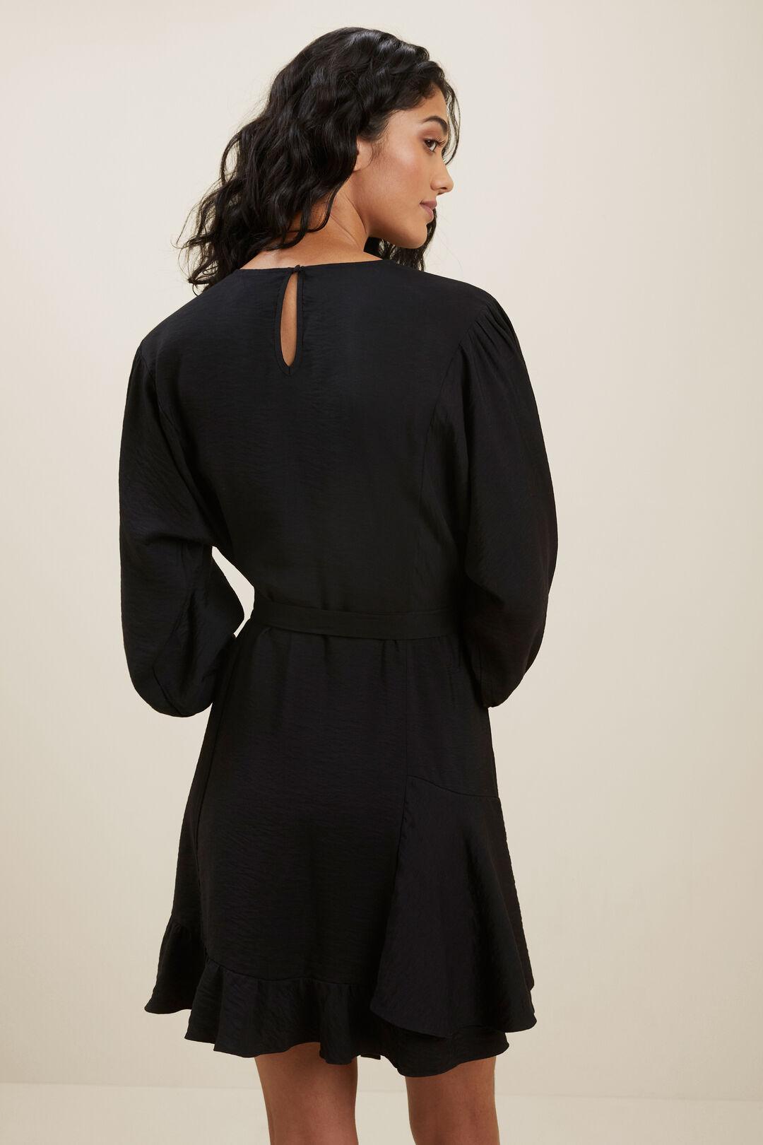 Ruffle Mini Dress  BLACK  hi-res