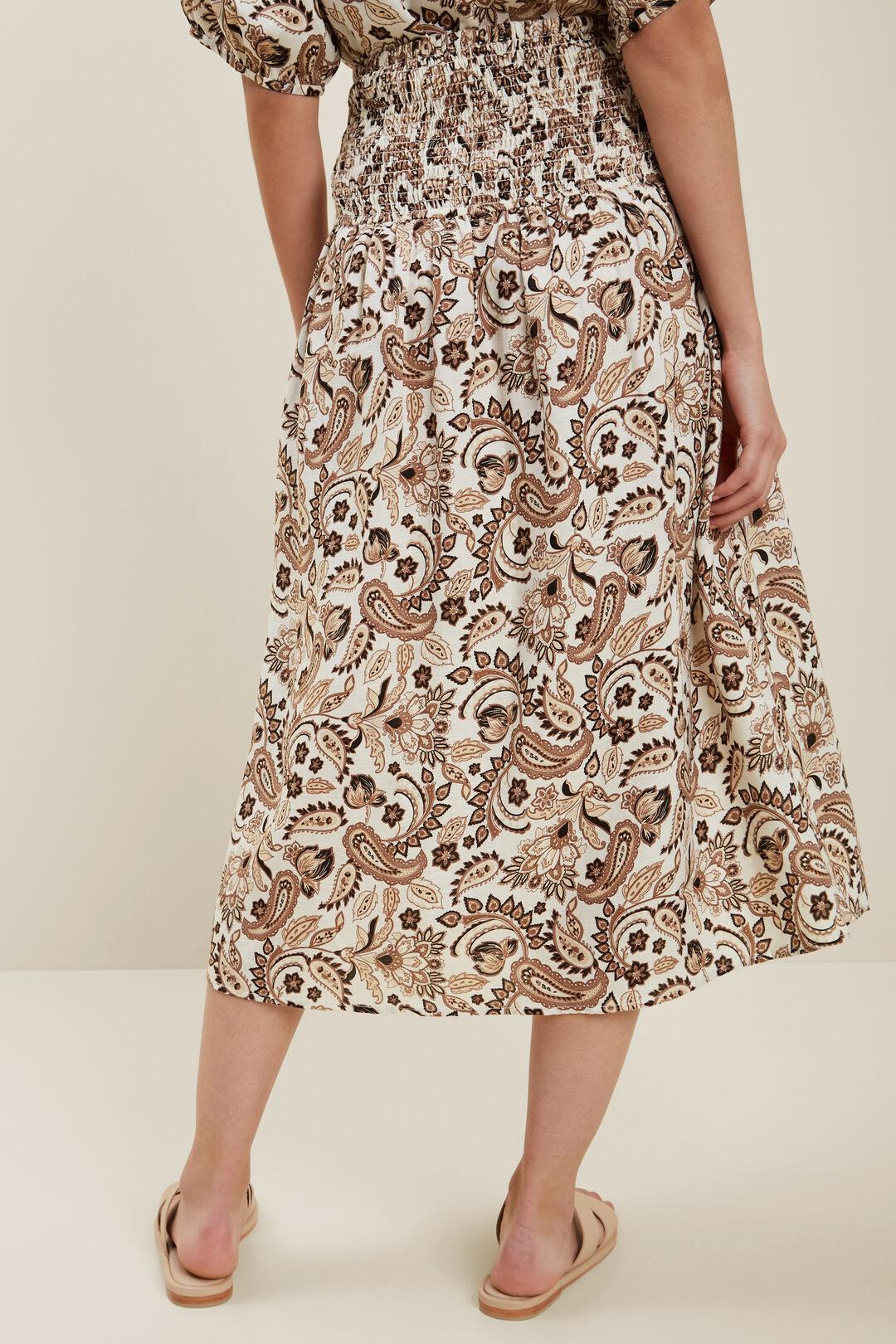 Paisley Midi Skirt  RETRO PAISLEY  hi-res