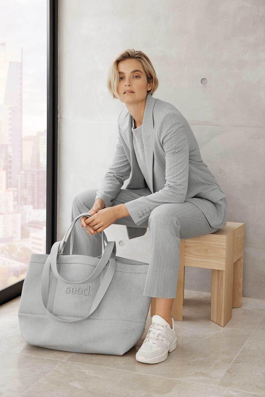 Pinstripe Suit Pant  GREY PINSTRIPE  hi-res
