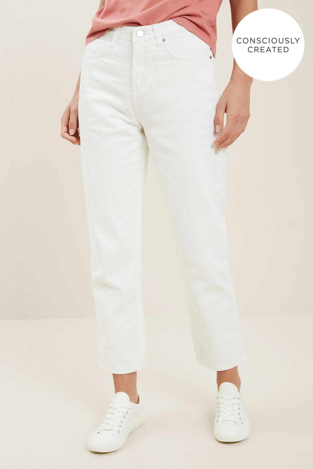 Sustainable Straight Leg Jean  CLOUD CREAM  hi-res