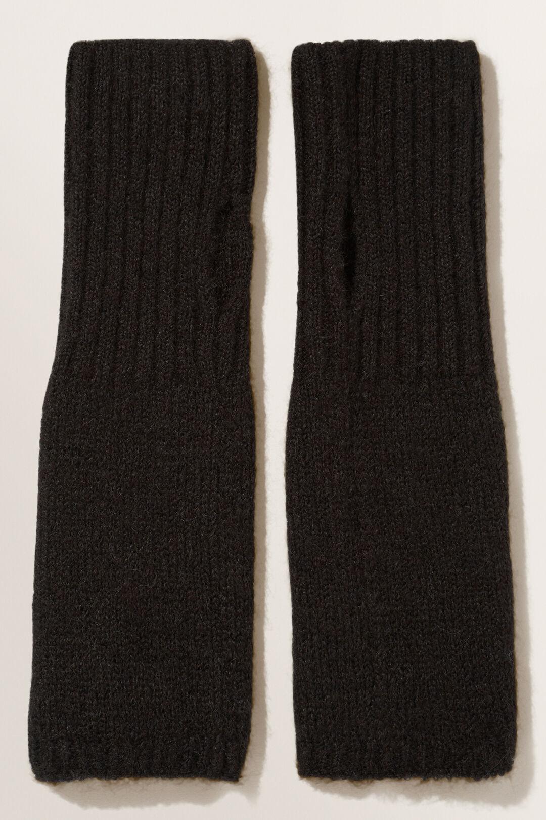 Wool Blend Armwarmers  BLACK  hi-res