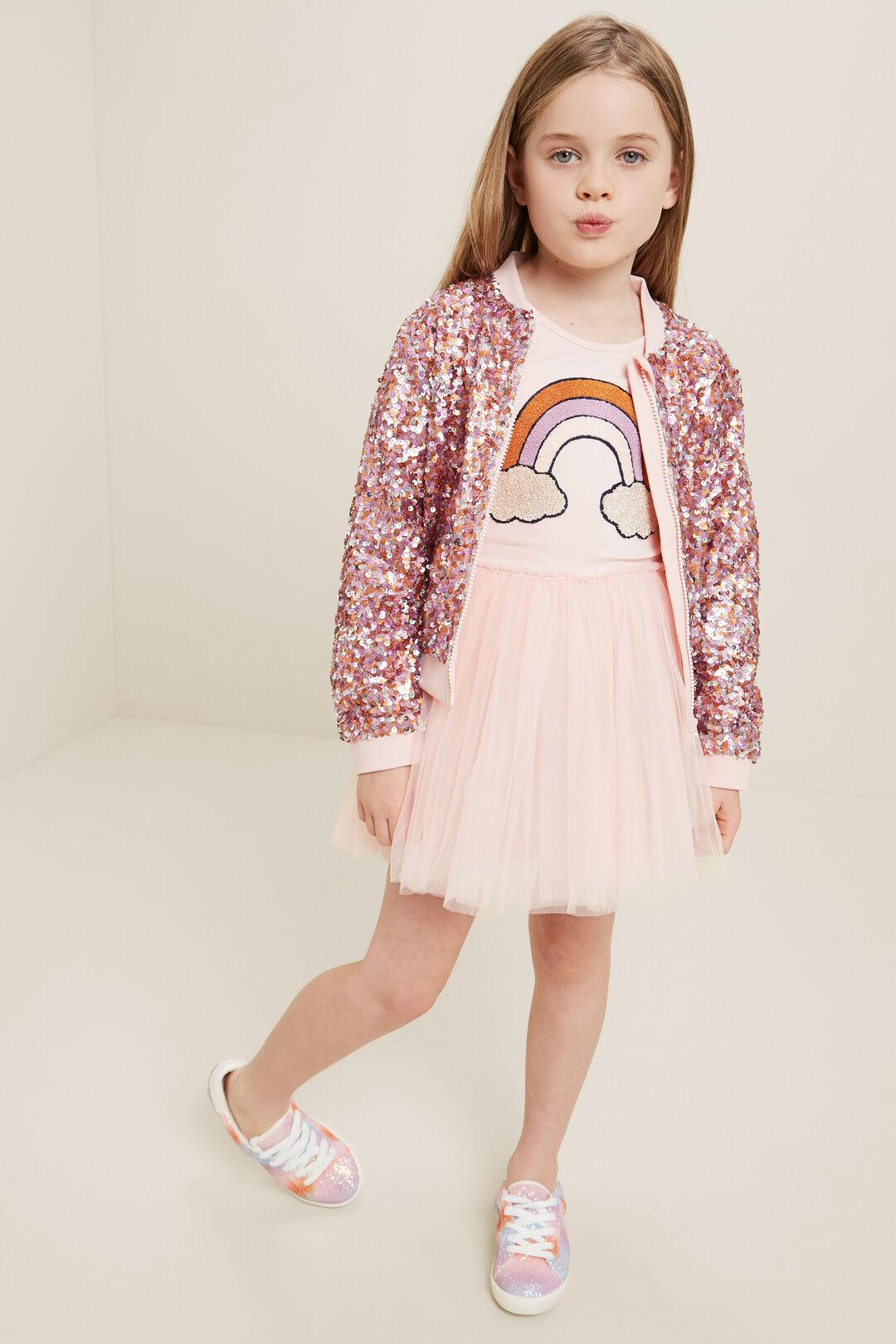 Rainbow Tutu Dress  DUSTY ROSE  hi-res