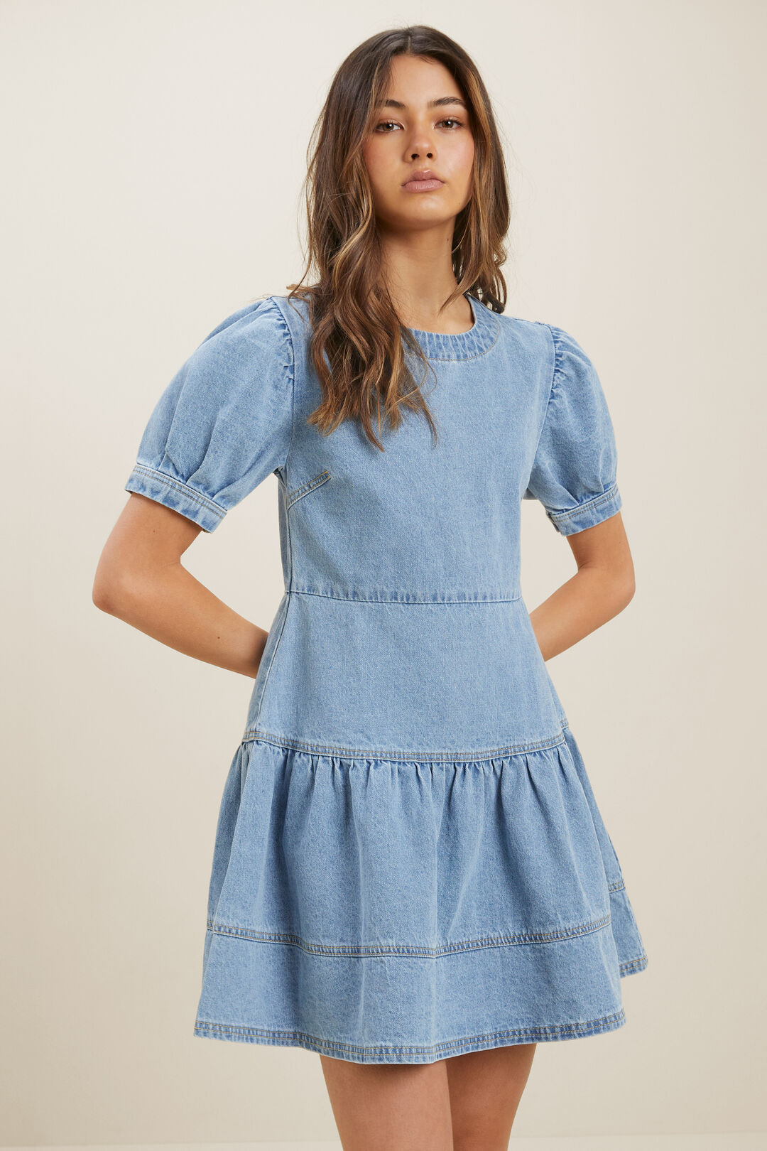 Denim Dress  LIGHT WASH  hi-res