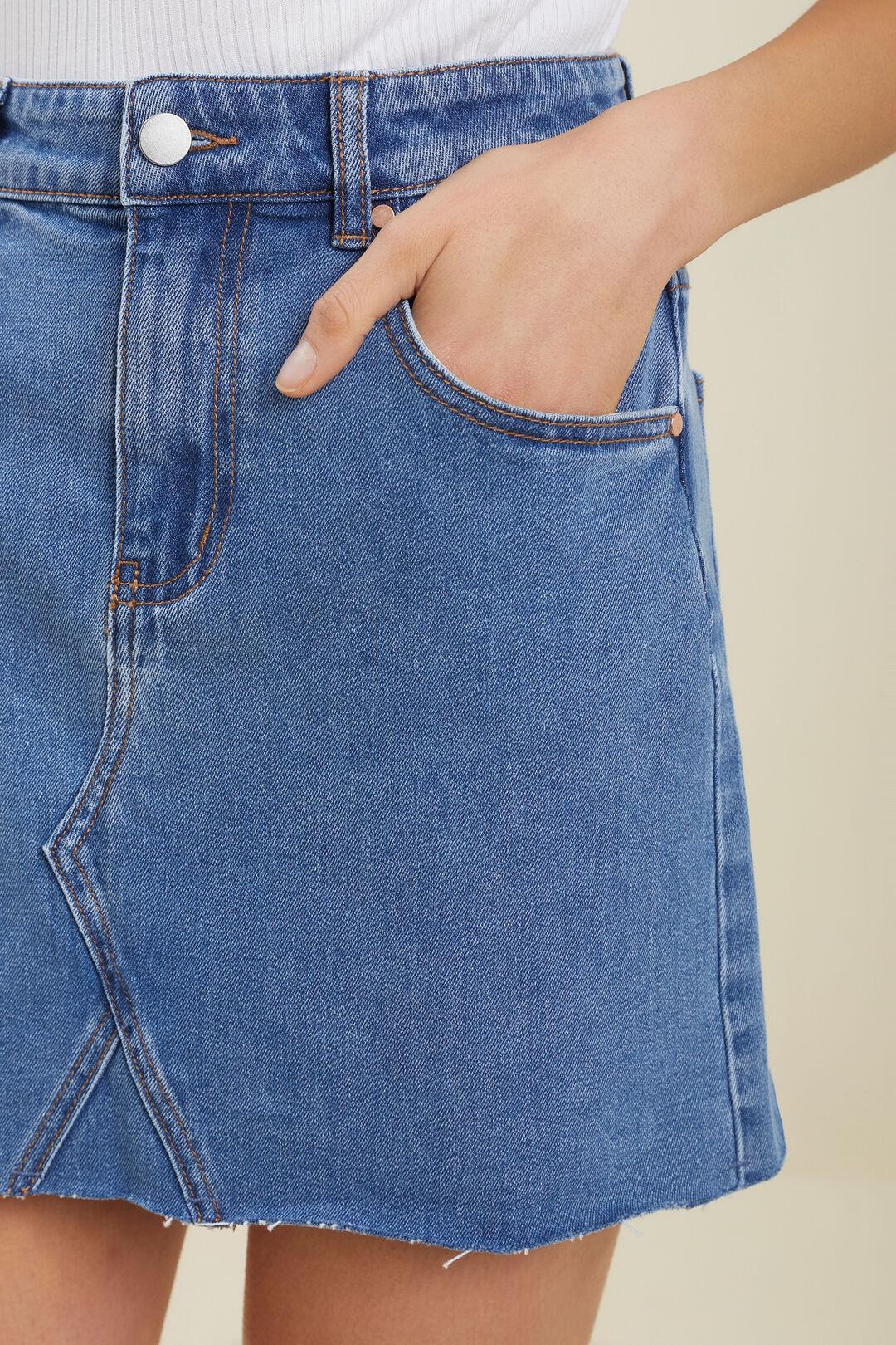 Denim Skirt  MID WASH  hi-res
