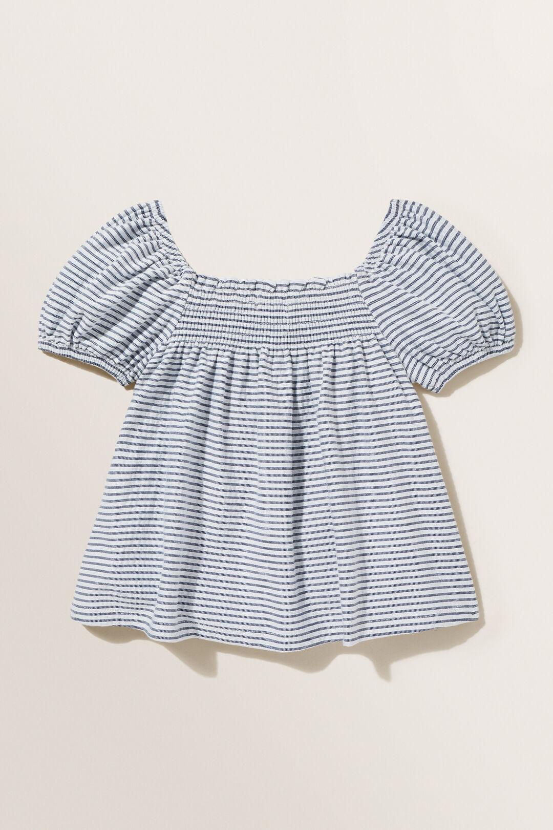 Stripe Shirred Top  MIDNIGHT  hi-res