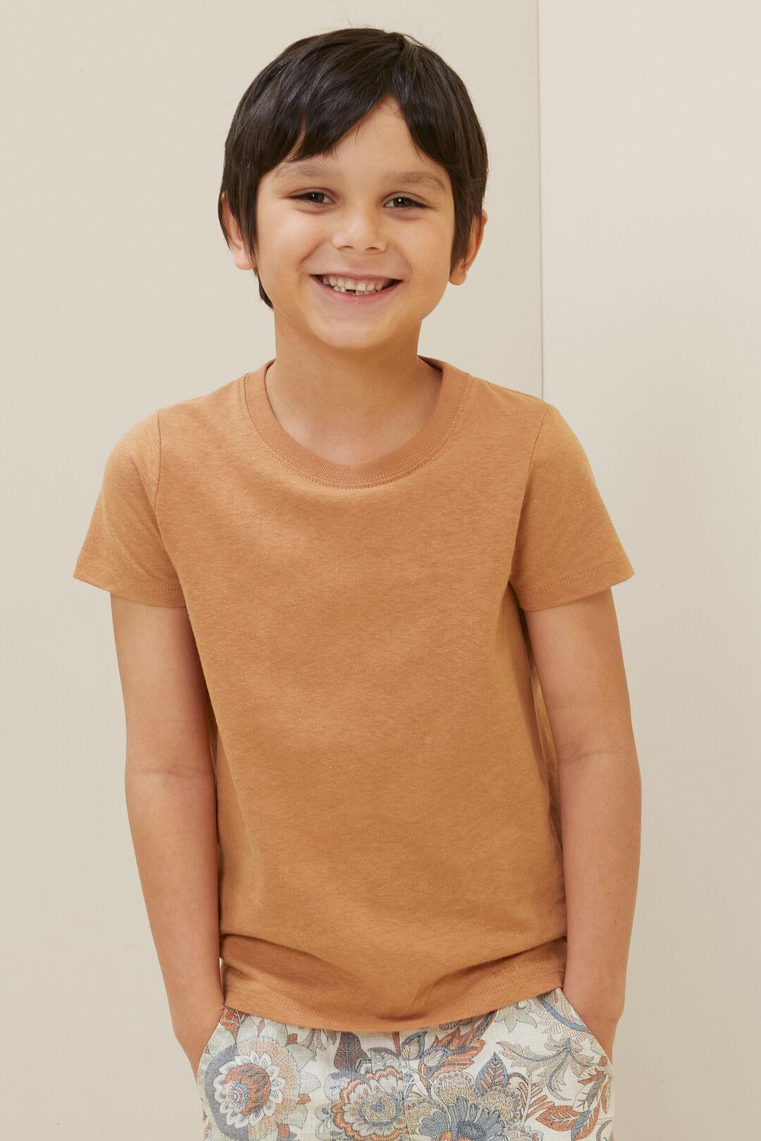 Child Linen Tee  AMBER  hi-res