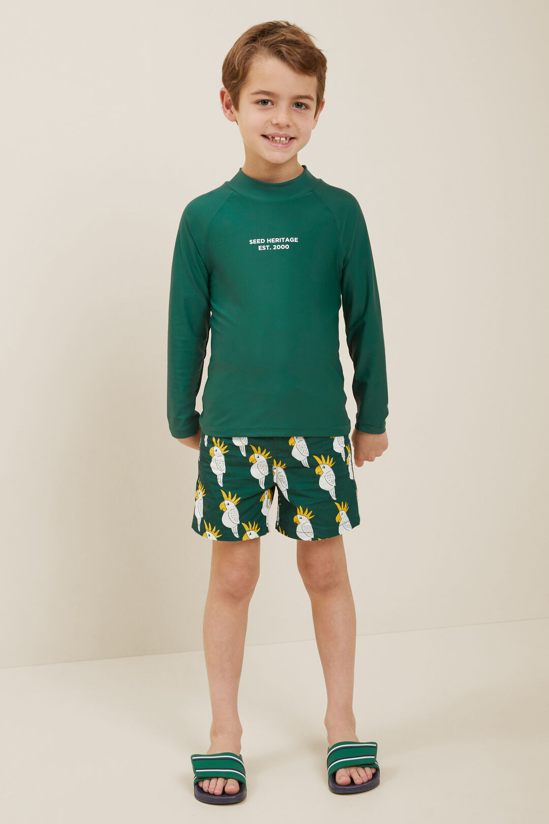 Cockatoo Boardshorts  BOTTLE GREEN  hi-res