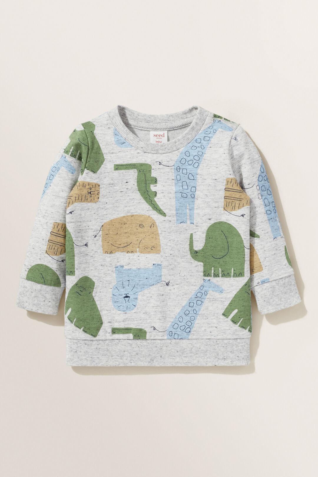 Safari Sweater  CLOUDY MARLE  hi-res