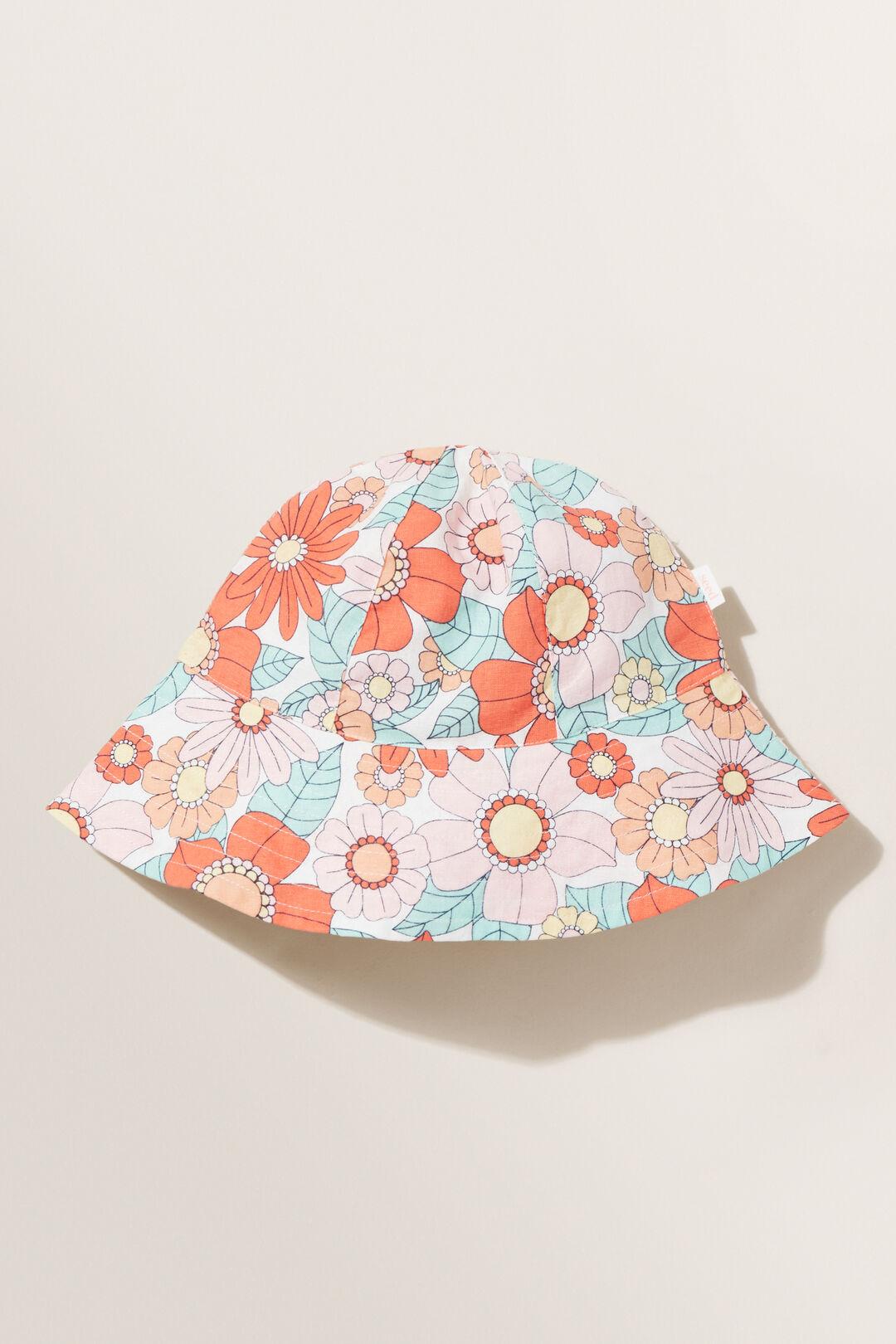 Retro Flower Bucket Hat  MULTI  hi-res