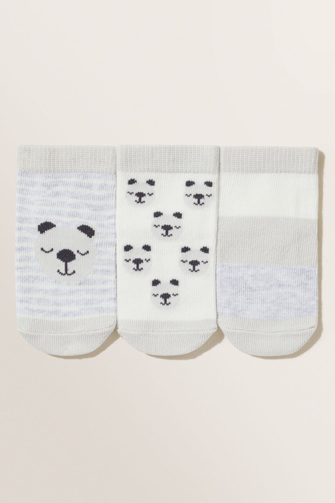 Bear Socks  GREY  hi-res