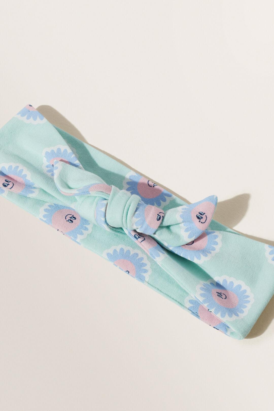 Flower Fabric Headband  AQUA MINT  hi-res