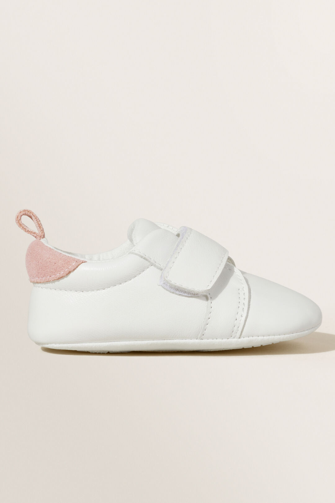 Leather Trainer  PINK/WHITE  hi-res
