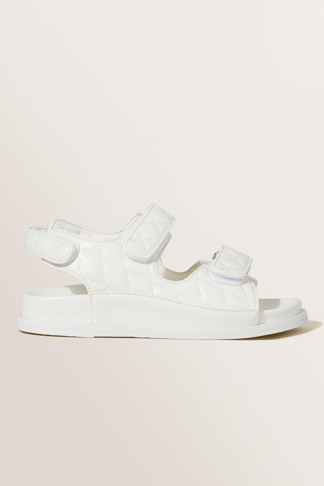 Quilted Footbed Slide  WHITE  hi-res