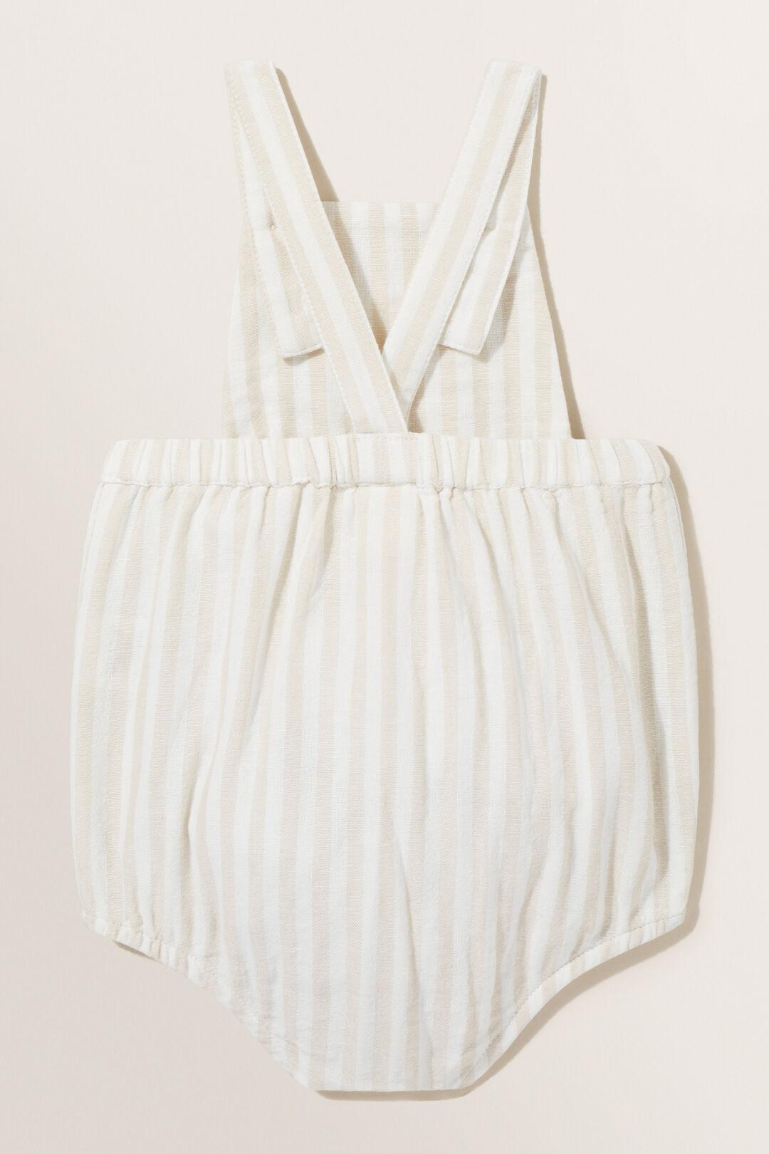 Stripe Pocket Onesie  NATURAL  hi-res