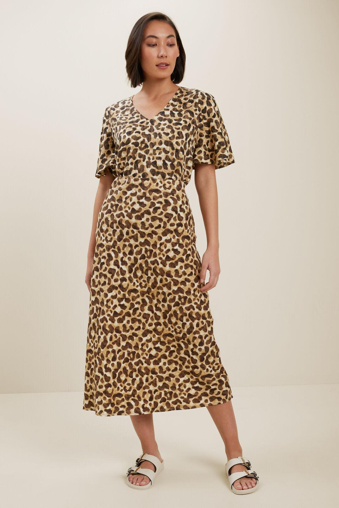 Leopard Flutter SleeveBlouse  LEOPARD  hi-res