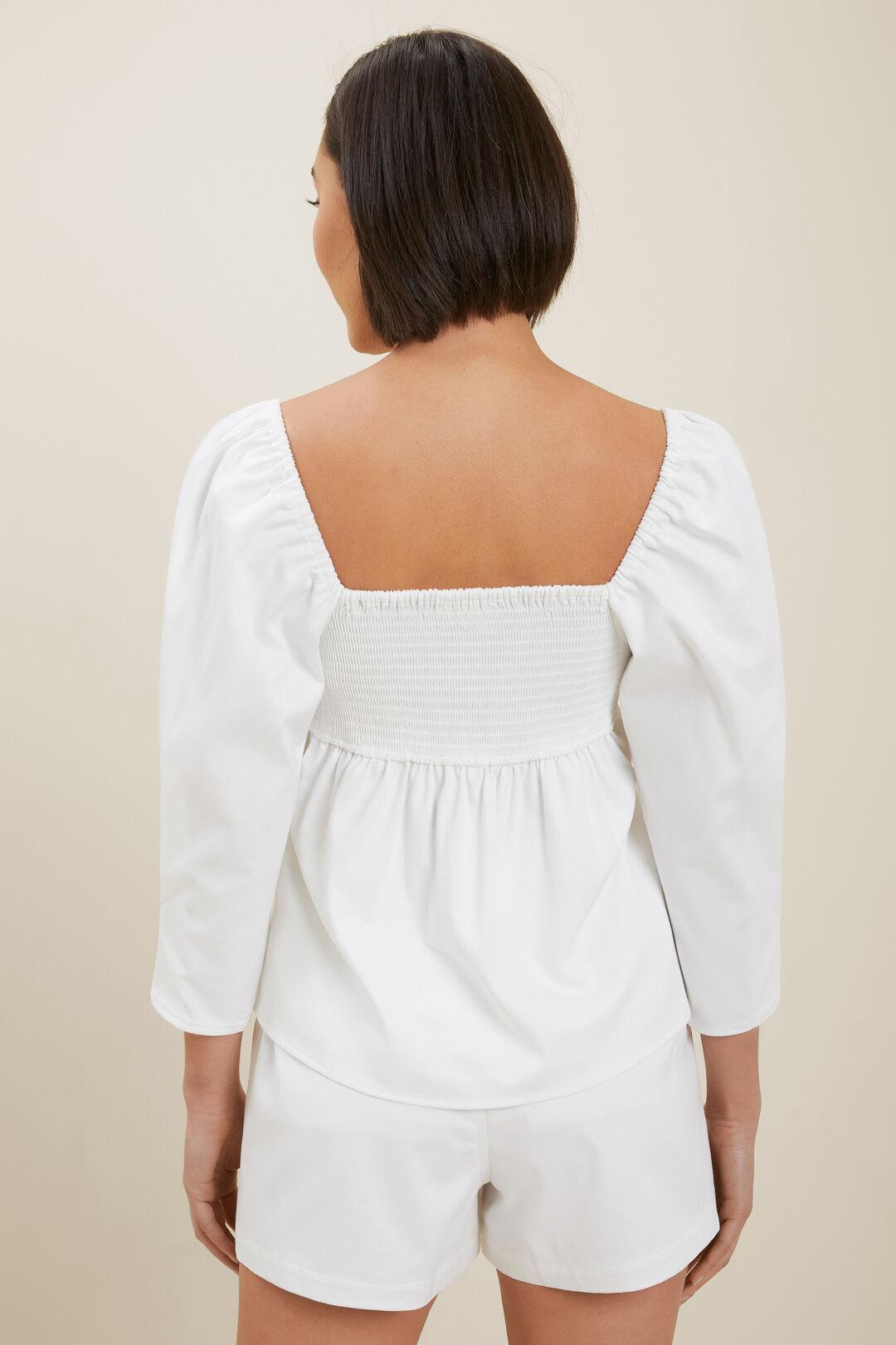 Sustainable Cotton Blouse  WHISPER WHITE  hi-res