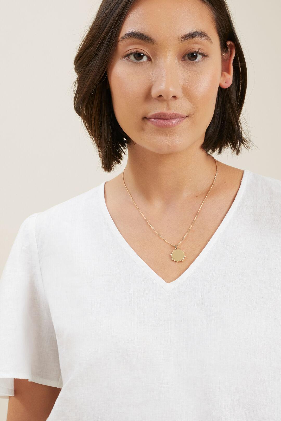 Studded Pendant Necklace  GOLD  hi-res