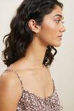 Studded Hoop Earrings  GOLD  hi-res