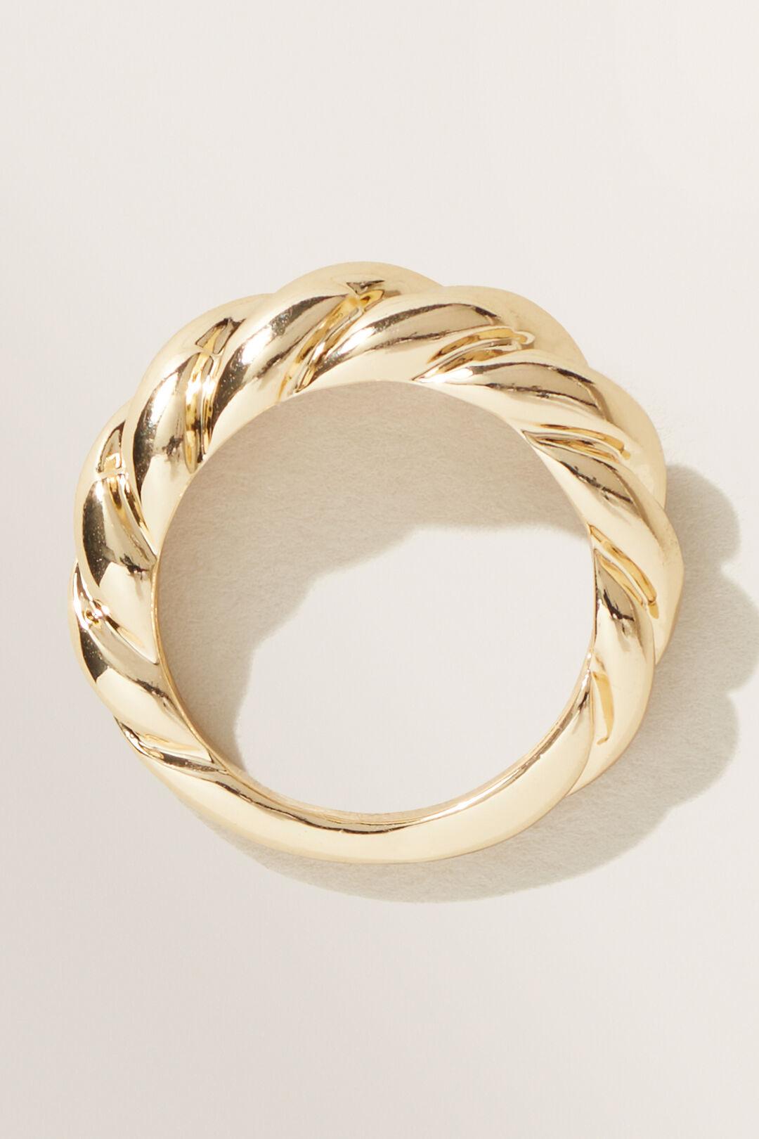 Twist Ring  GOLD  hi-res