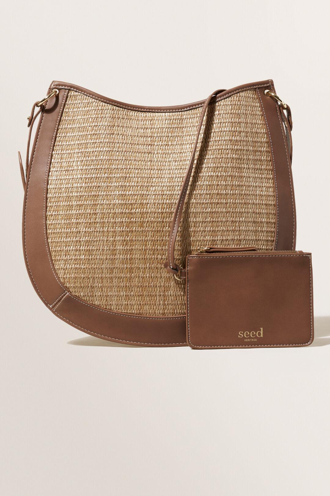 Straw Shoulder Bag  CHOCOLATE  hi-res