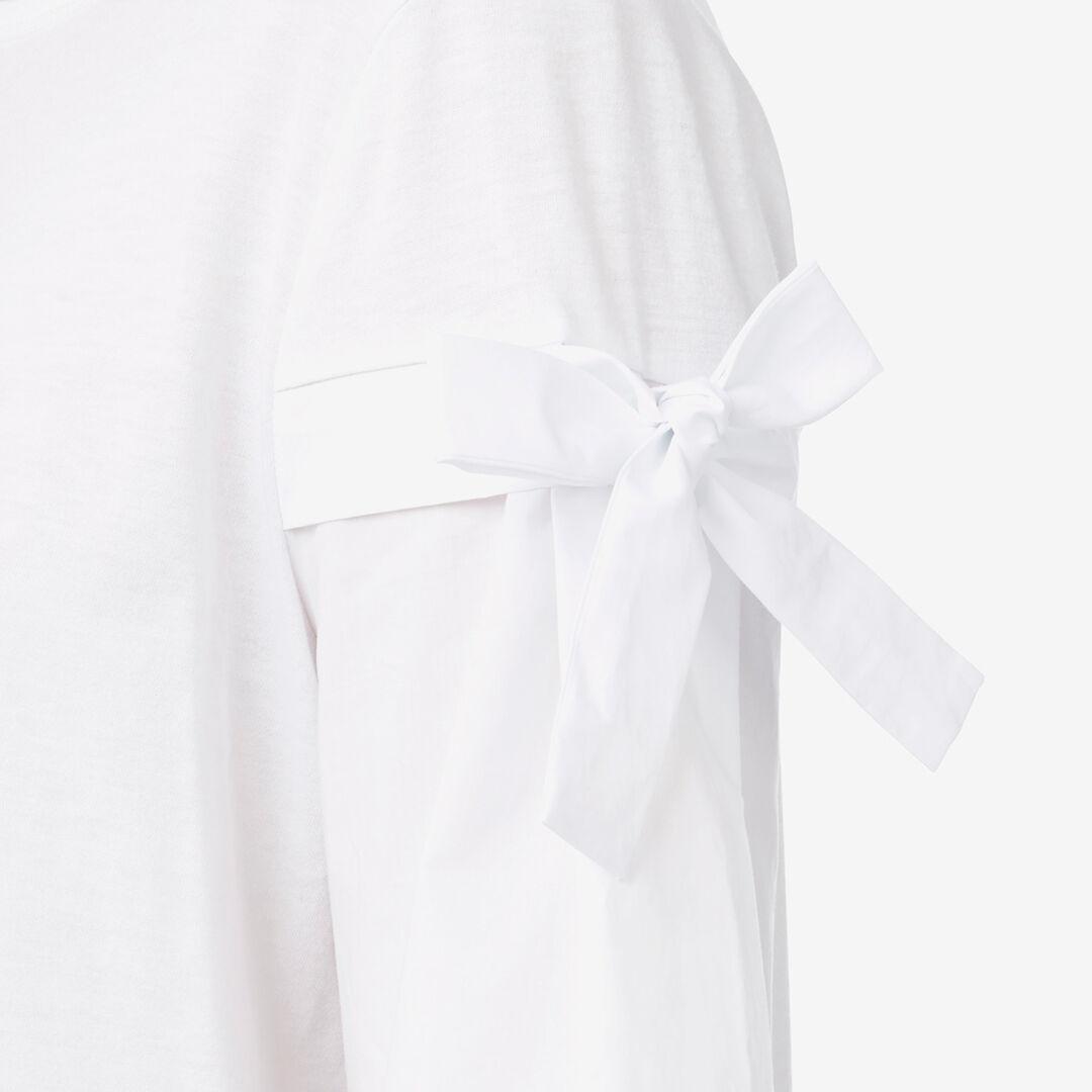 Tie Sleeve Tee  BRIGHT WHITE  hi-res