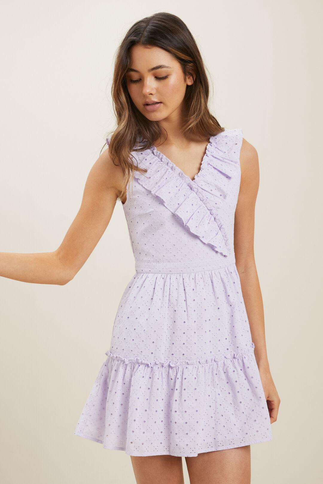 Broderie Dress  Violet  hi-res