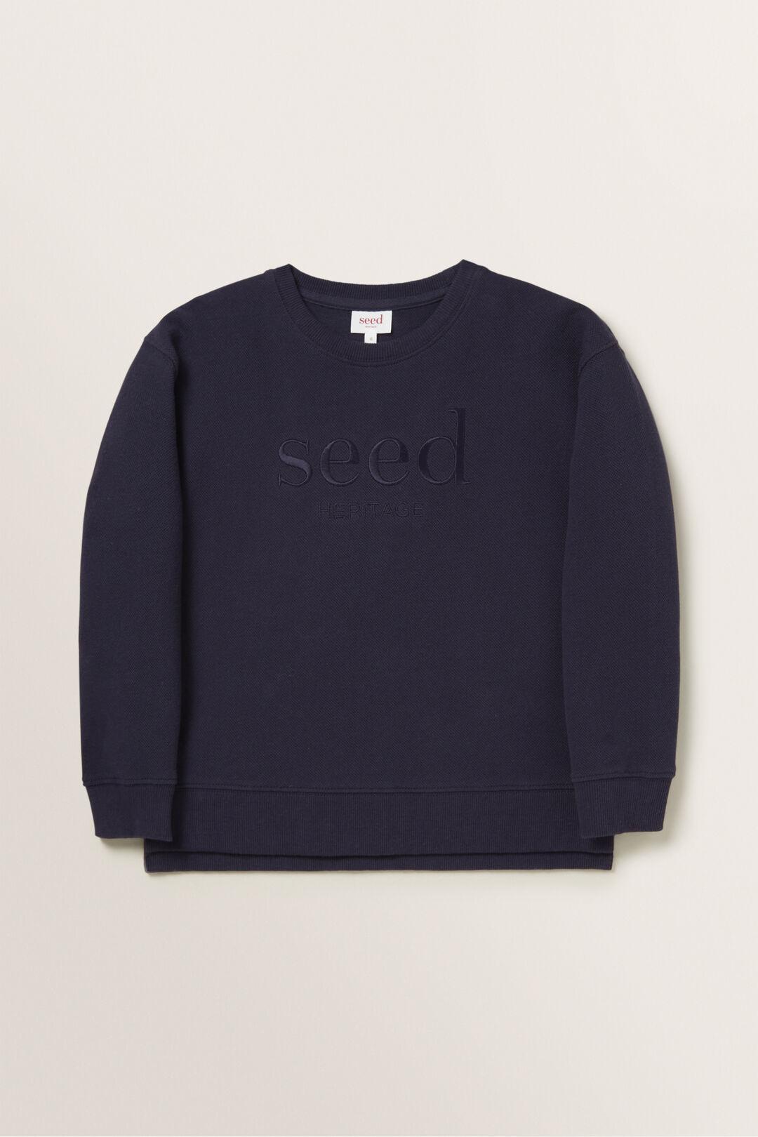 Logo Sweater  Midnight Blue  hi-res