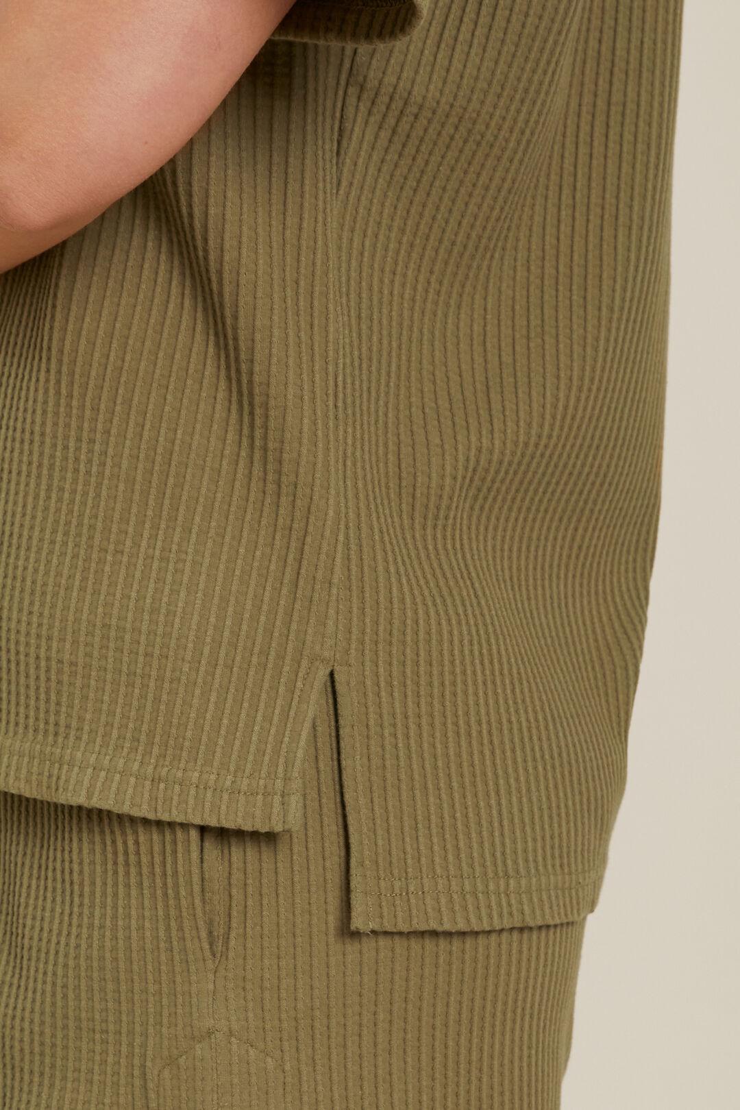 Textured Boxy Tee  Sage Green  hi-res