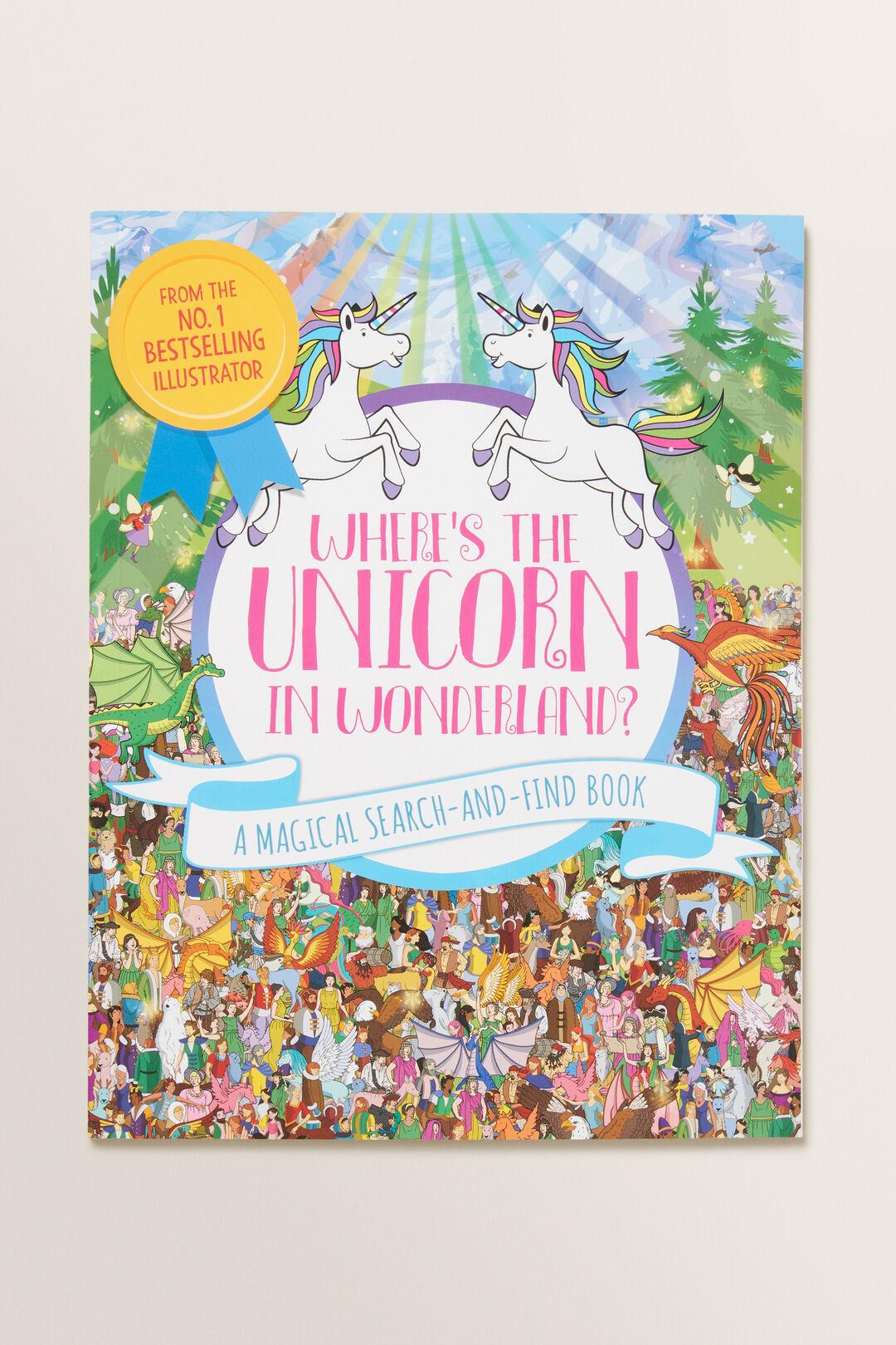 Where'S The Unicorn In Wonderland? Book  Multi  hi-res
