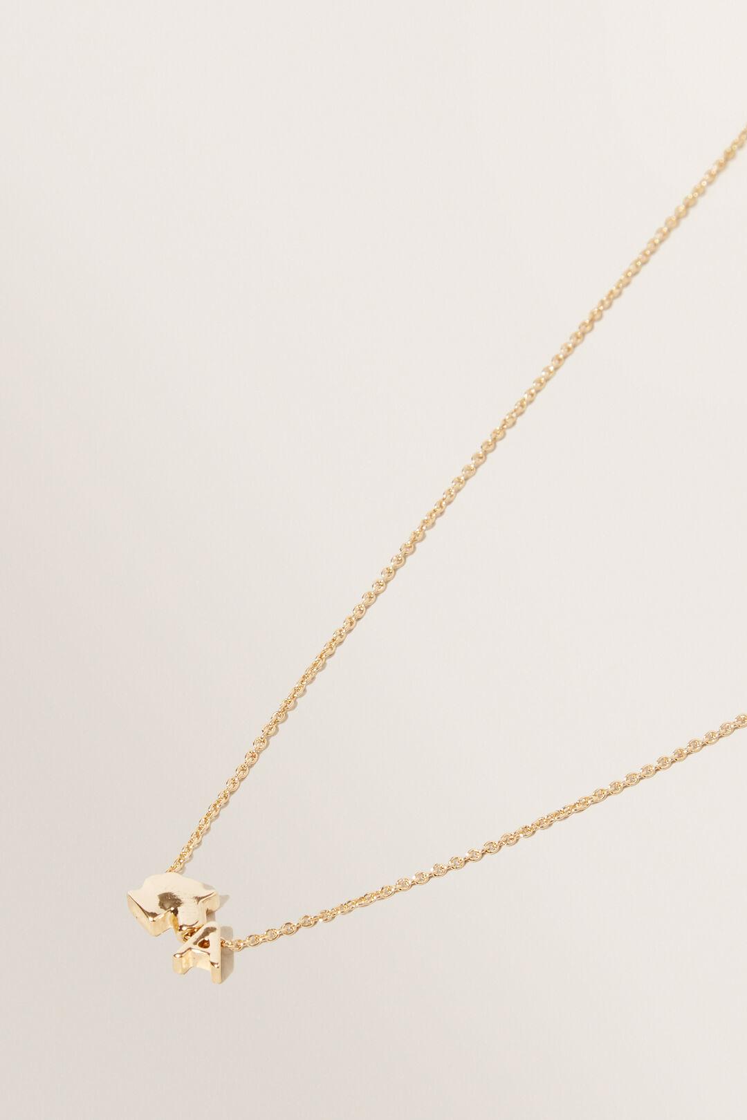 Unicorn Initial Necklace  A  hi-res