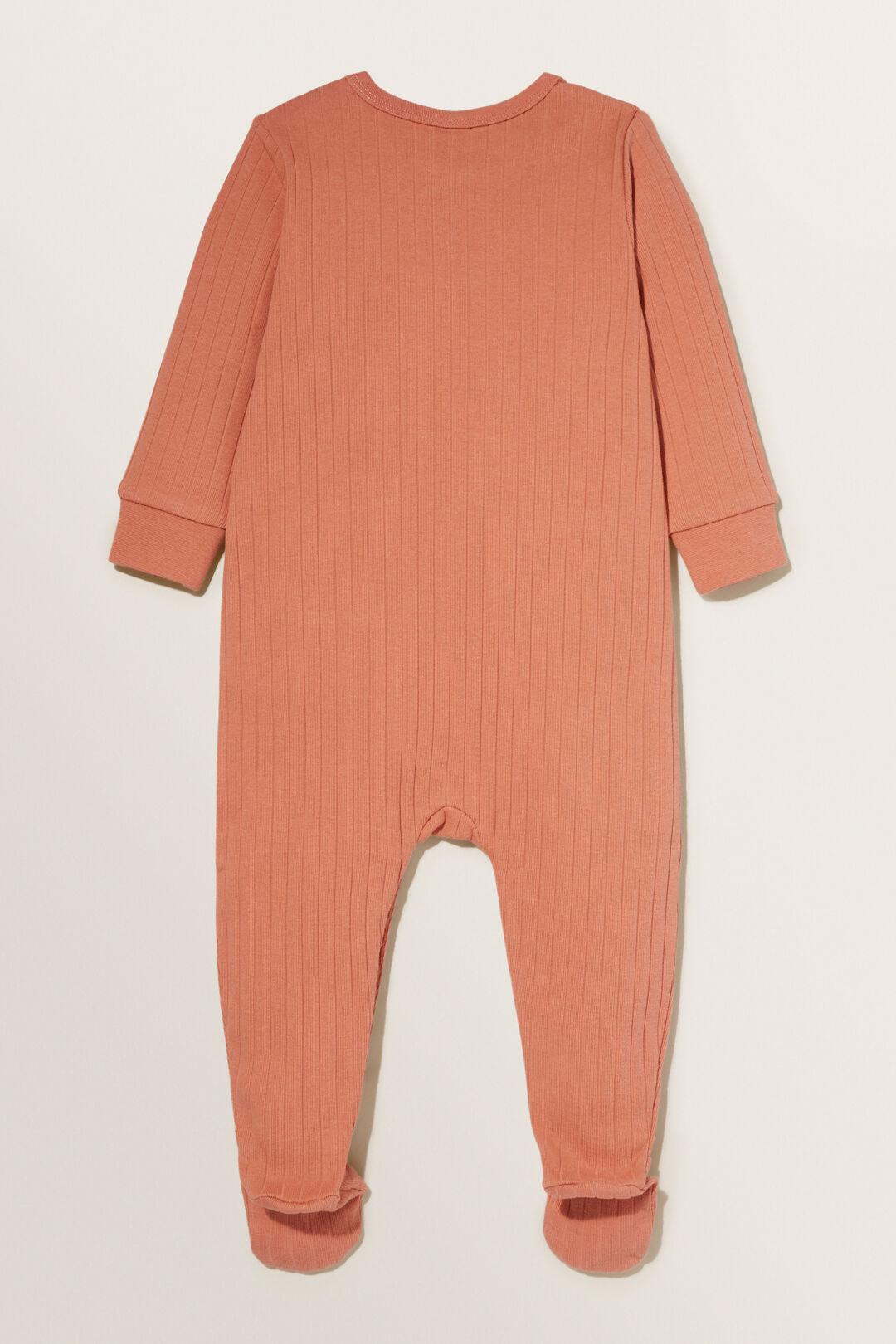 Rib Pocket Jumpsuit  Terracotta  hi-res