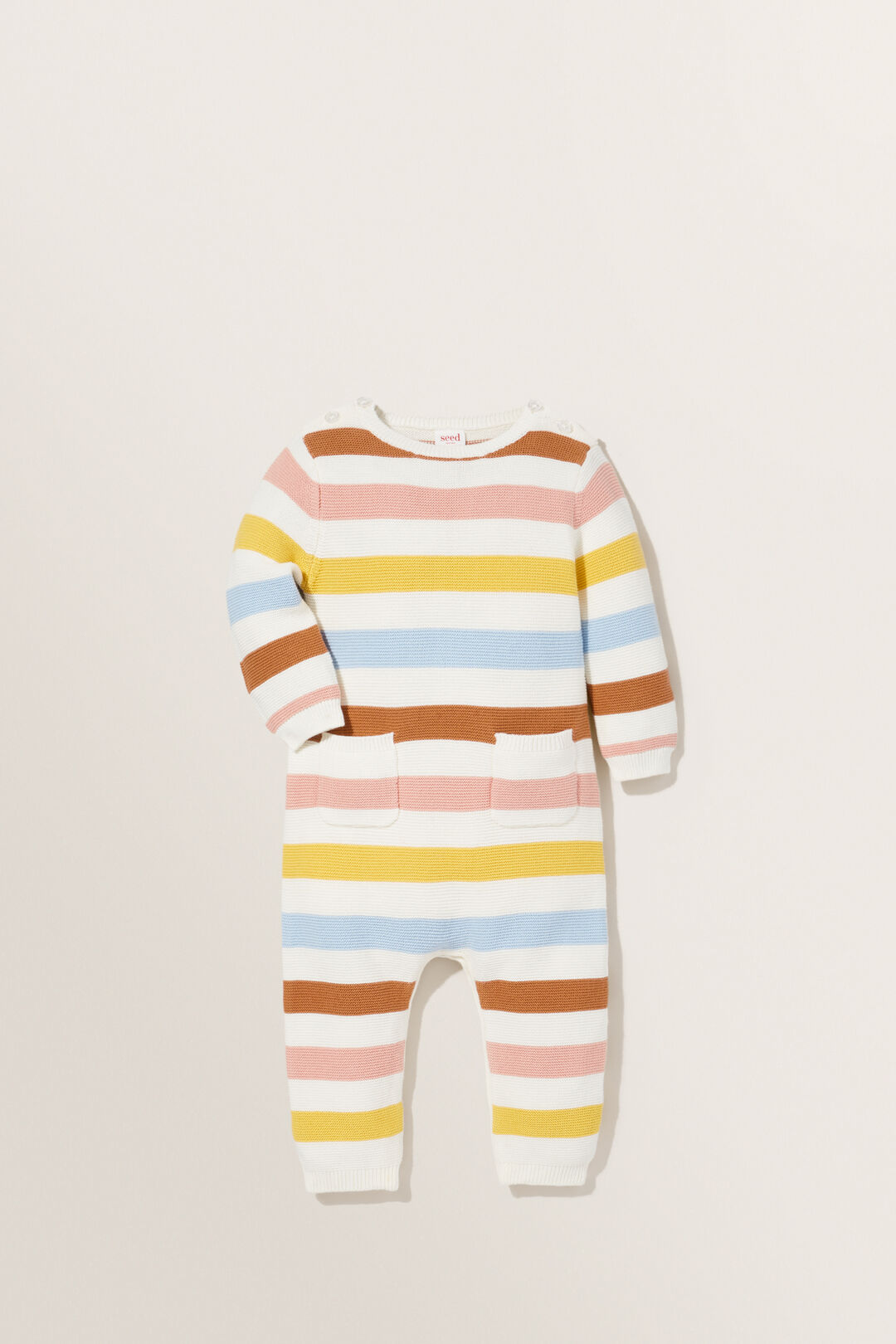 Knitted Pocket Jumpsuit  Multi  hi-res