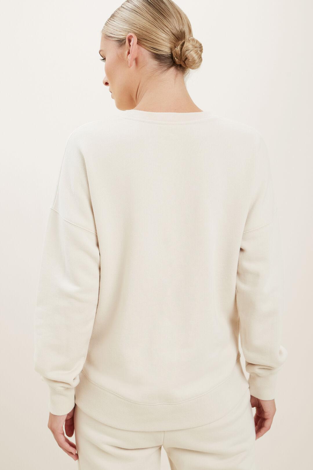 Basic Terry Sweater  Pebble Cream  hi-res