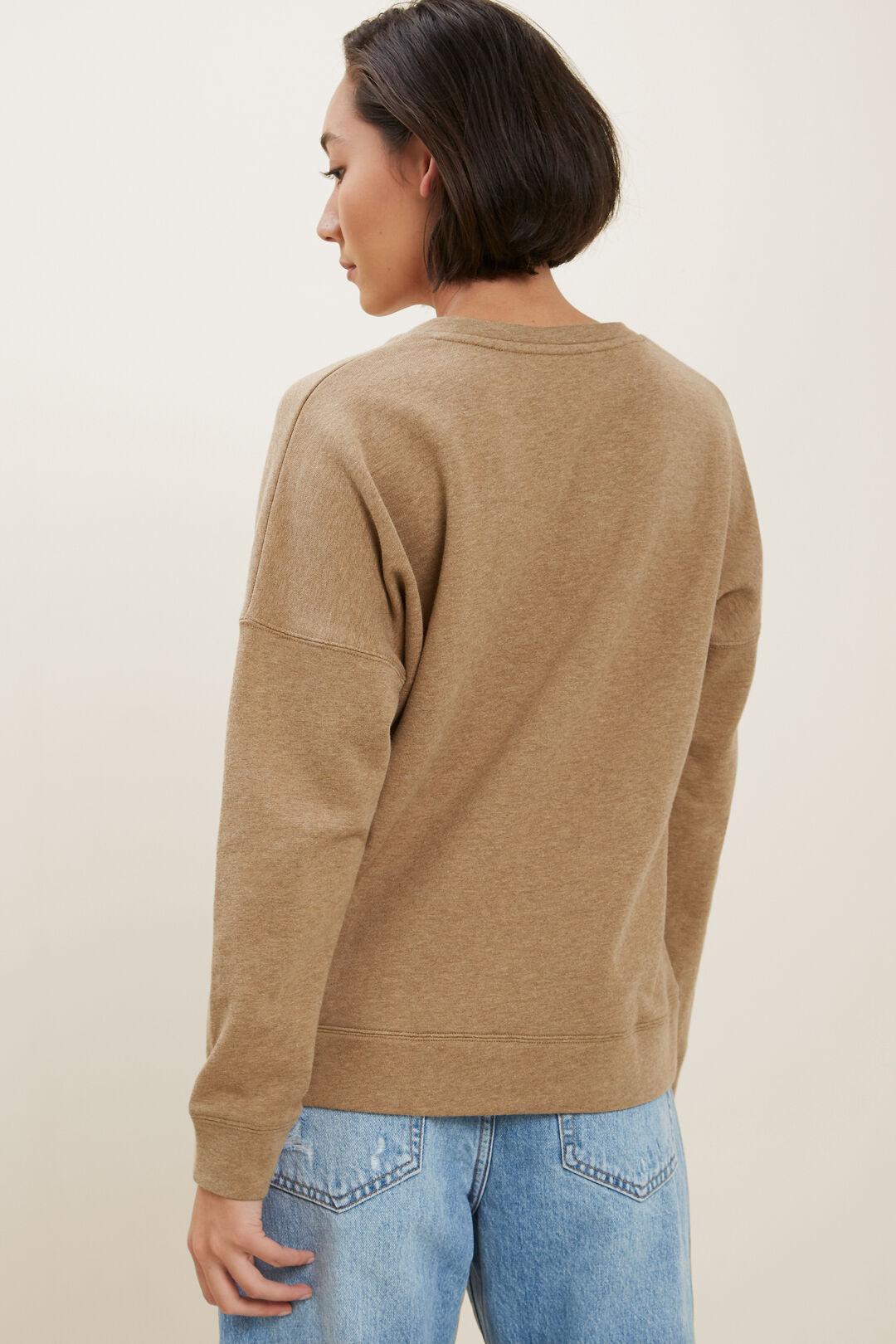 Clean V Neck Sweater  Honey Dew Marle  hi-res