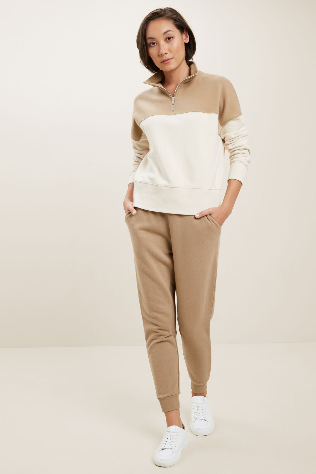 Colour Blocked Sweater  Honey Dew Splice  hi-res